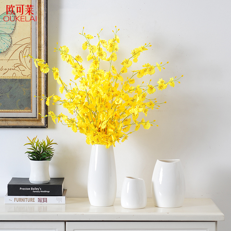 Buy Modern Simple Living Room Decoration Simulation Artificial Flowers Dry Flowers Flower Arrangement Tv Cabinet Tea Table Ceramic Vase Online In Lebanon 603986345006