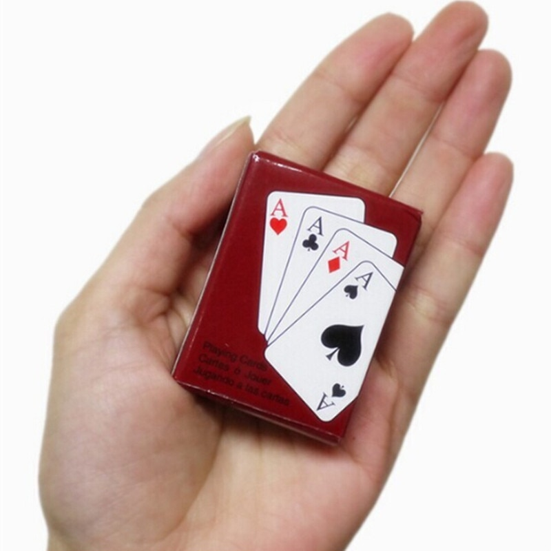 Buy 1 Set Mini Cute Dollhouse Miniatures Poker Home Decoration Black Mini Poker Cards Playing Game For Outdoor Climbing Accessories Online In Lebanon 32818133903