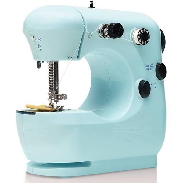 Pink Free Arm Adjustable 2-Speed/for Tailors//Arts//Crafting Portable Household Lightweight Sewing Machine for Beginner Foot Pedal Bruvoalon Electric Sewing Machine Night Light Double Thread