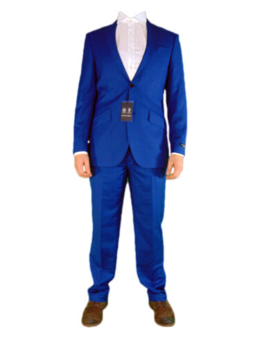 Buy Austin Reed Mens Blue Sharkskin 2 Two Piece Office Suit Jacket And Trousers New Online In Lebanon 252495753298