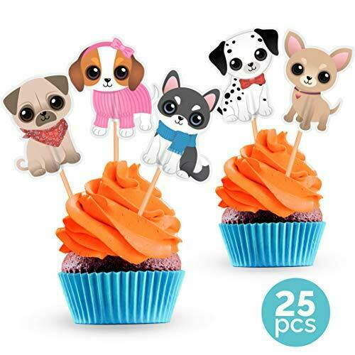 Dog Cupcake Cake Toppers Puppy Pet Theme Birthday Party Decorations Supplies Buy Products Online With Ubuy Lebanon In Affordable Prices 312980917387