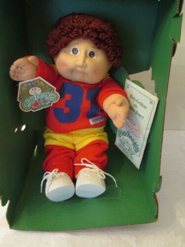 Buy Vintage 1984 Coleco Cabbage Patch Doll Brown Hair Eyes 31 Sports Outfit Nib Online In Lebanon 233465304143