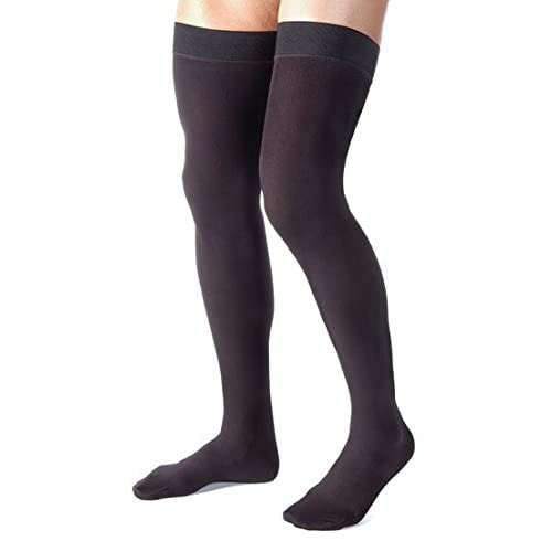 Firm Medical Graduated Support 20-30mmHg 2XL Opaque Compression Stockings Pantyhose Open Toe Medical Support Hose Absolute Support SKU A214BL5 Black XXL