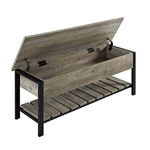 Pemberly Row Modern Farmhouse Entryway Bench Shoe Storage Open Top Hallway Organizer 48 Inch In Rustic Gray Wash Buy Products Online With Ubuy Lebanon In Affordable Prices B087yynj75,What Is The Best Paint For Kitchen Cabinets