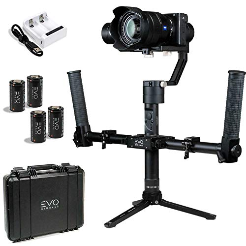100/% Aluminum DSLR or Action Cameras with 0.25 in UNC Screw Works with Most Mirrorless EVO GS-75 Mini Tripod with Swivel Ball Head