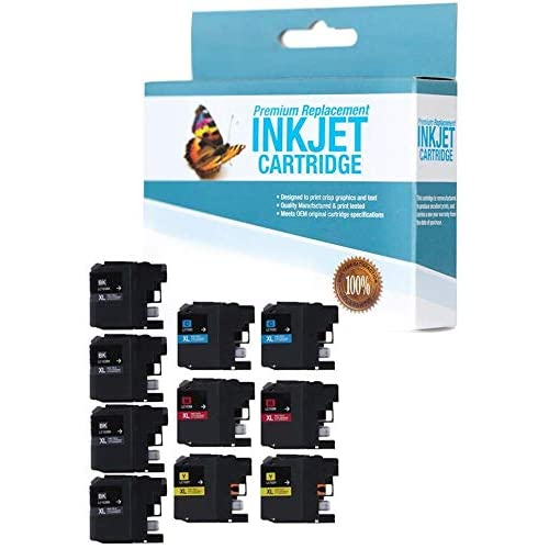 SuppliesOutlet Compatible Ink Cartridge Replacement for Brother LC103 C,M,K,Y,10 Pack LC103C LC103Y for Use with MFC-J475DW LC103M LC103BK