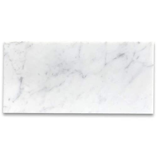 Buy Stone Center Online Carrara White Italian Carrera Marble 6 X12 Subway Tile Polished Venato Bianco Bathroom Kitchen Wall Floor Tile 100 Sq Ft Online In Lebanon B004wagax0