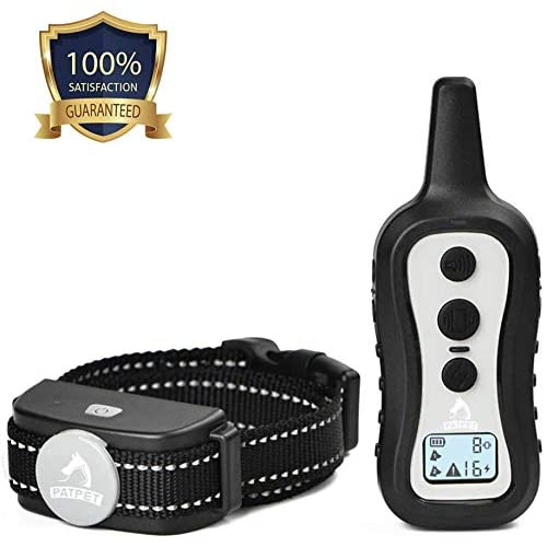Up to 1000 ft Remote Range Rainproof for Small Medium Large Dogs PATPET Dog Training Collar- Dog Shock Collar with Remote w//3 Training Modes Beep Vibration and Shock