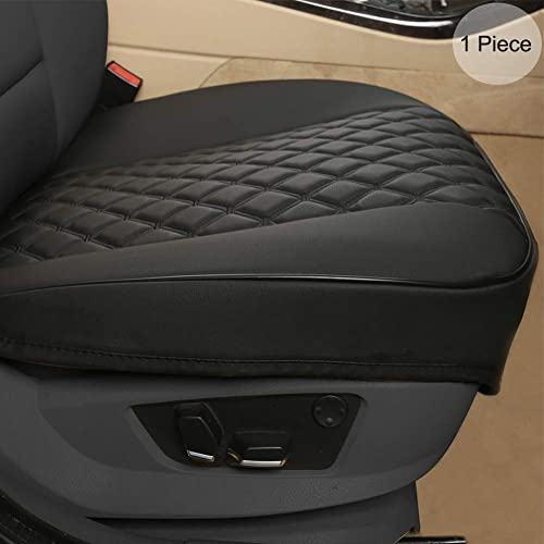 Buy Black Panther Pu Car Seat Cover Front Seat Protector Compatible With 90 Vehicles Embroidery Anti Slip Full Wrapping Edge W 21 26 D 20 86 1piece Black Online In Lebanon B07xp7dpqy