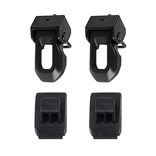 omotor Black ABS Hood Cover Latches Catch Set Kit for Jeep Wrangler JK 2007-2018