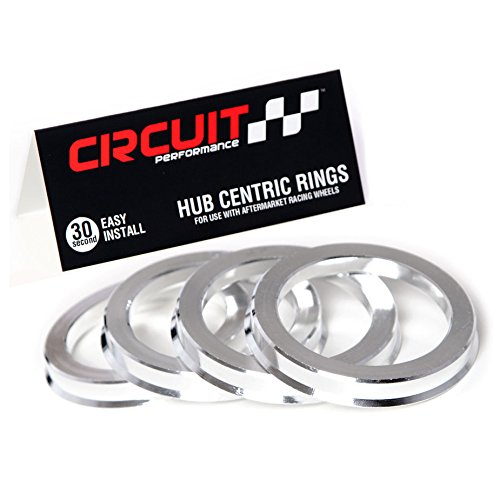 NB-AERO (Pack of 4) Polycarbon Hub Centric Rings 75mm OD to 54.1mm ID Hubcentric Center Ring Fits 54.1mm Vehicle Hub to 75MM Wheel Centerbore