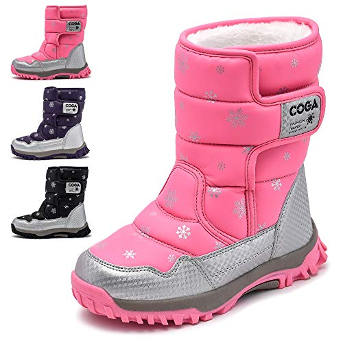 Toddler//Little Kid//Big Kid Smart.A Cold Weather Waterproof Snow Boot