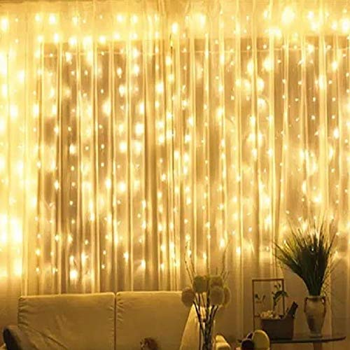 Bhclight Window Curtain String Lights 300 Led Upgraded Brightness Hanging Lights For Bedroom 8 Modes Fairy Lights Plug In Garden Wedding Party Warm White Buy Products Online With Ubuy Lebanon In