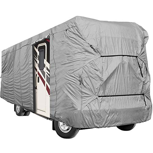 North East Harbor Waterproof Superior 5th Wheel Toy Hauler RV Motorhome Cover Fits Length 20-23 New Fifth Wheel Travel Trailer Camper Zippered Panels Heavy Duty 4 Layer Fabric KapscoMoto Keychain