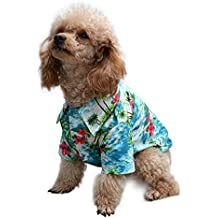 dcd297ccf0c8 EXPAWLORER Hawaiian Pet Dog Polo T Shirts Cute for Small to Medium Puppy  Cats Cool Summer