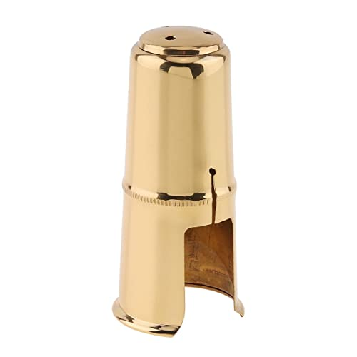 Yibuy 25mm Connector Dia Brass Material Gold Plated Saxophone Bend Neck for Alto Saxophone