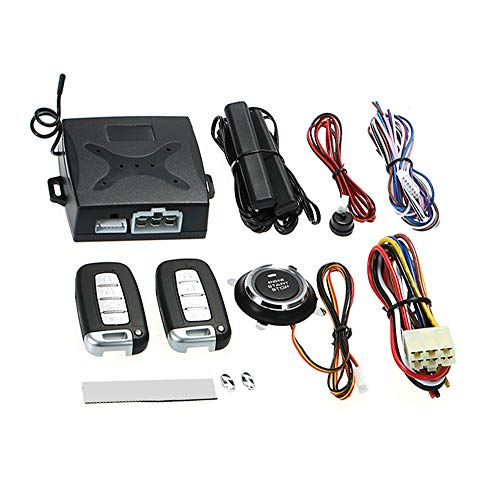 Carrfan Car Alarm Keyless Entry Systems Universal Auto Vehicle Security Anti-Theft System with 2 Remote Contoller