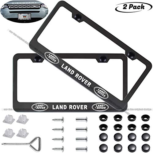 CAR FAN 2-Pieces Silver License Plate Frame for BMW,Silent Tough,Better Decoration of Your License Plate Frame fit BMW Silver