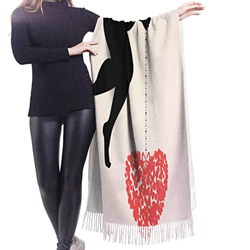 Placement Pattern Bitmap Bird Other Scarf For Women Soft And Close To The Skin No Fading No Ball