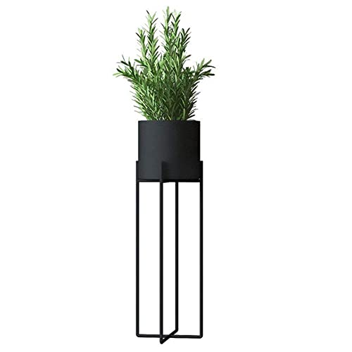 Black JOANNAS HOME Metal Plants Stand Tall Indoor Outdoor Decor Plant Pot with Stand Rust Resistant Potted Flower Stands Display Rack 27 Inch
