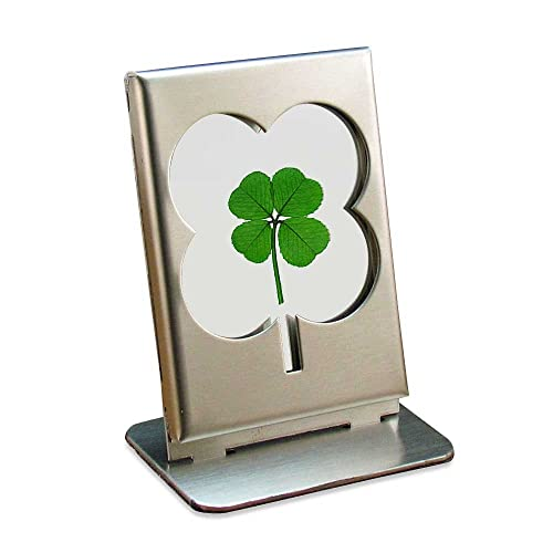 Buy Clovers Online Stainless And Glass Frame With A Genuine Four Leaf Clover Online In Lebanon B008bty346