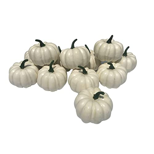 Kedoeo 12 Pcs Artificial White Pumpkins Fake White Pumpkins Wedding Halloween Thanksgiving Tabletop Decoration 12pcs White Pumpkins Buy Products Online With Ubuy Lebanon In Affordable Prices B07xkh5nx2