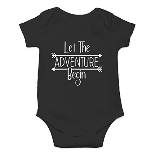 Cute One-Piece Infant Baby Bodysuit Let The Adventure Begin Cant Wait to Meet You Worth The Wait