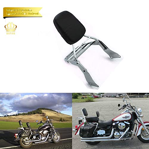 AQIMY Short Passenger Backrest Sissy Bar with Pad for Harley Sportster 883 1200 XL 883C 883R 1200R 1200C
