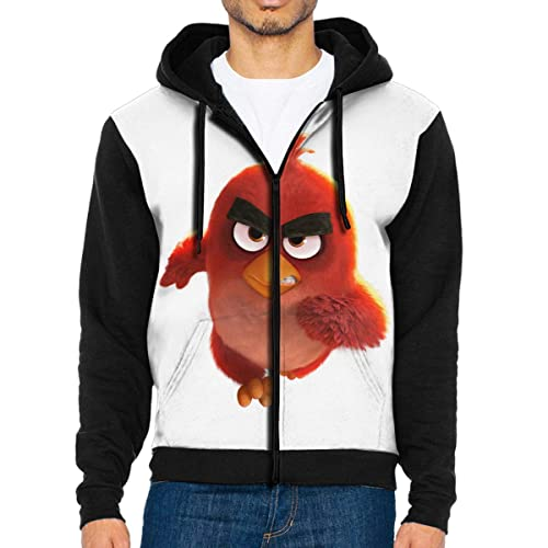 RuiPeng Personalized Angry Birds Chuck and Pig Funny T-Shirt Short Sleeve for Youngster Black