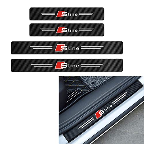 Kick Plates Pedal Cover Trim Sticker Anti-Dirty Scuff Plate Styling Accessories Gemmry 4PCS Carbon Fiber Car Door Sill Protector for Hyundai I20