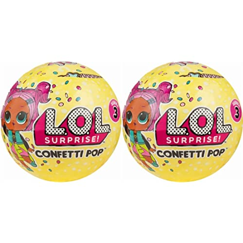 L O L Surprise Confetti Pop Series 3 Wave 1 Unwrapping Toy Set