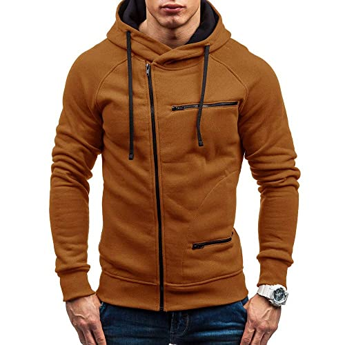 Knitted Sweater Jacket for Men Winter Casual Tops Turtleneck Blouse with Zipper Slim Fit Outwear Coats WEI MOLO