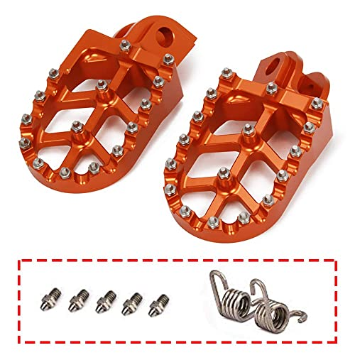 JFGRACING Motorbike Offroad CNC Foot Pegs Pedals Foot Rests for 65-1290 SX SXF EXC EXCF XC XCF XCW SMC Super Moto Enduro Adventure Freeride 98-18