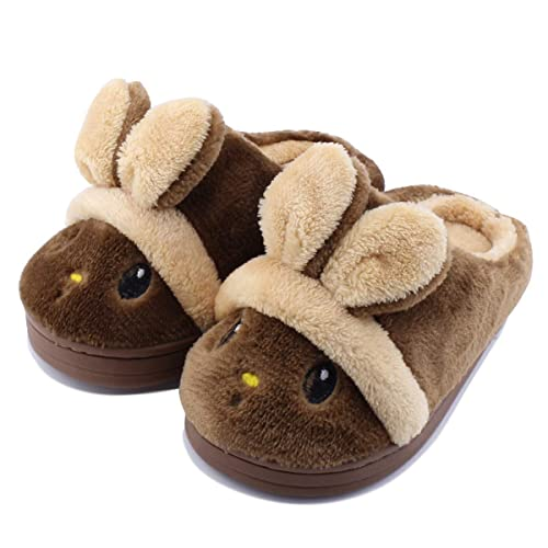 Kid Slippers Cute Bunny Girls Boys Toddler Winter Warm Comfort Home Shoes