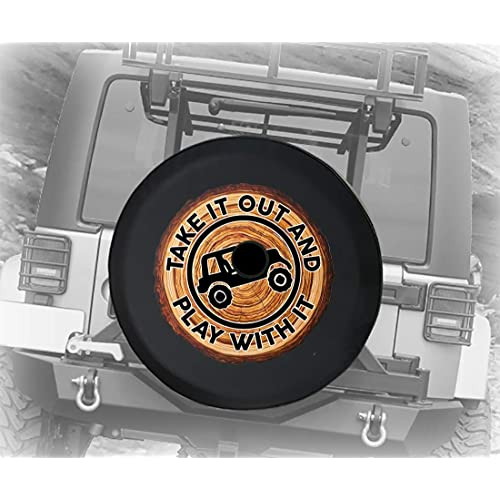 Full Color Wooden Walkway to the Sandy Beach for Sunset Walk Jeep RV Camper Spare Tire Cover Black 32 in Pike Outdoors