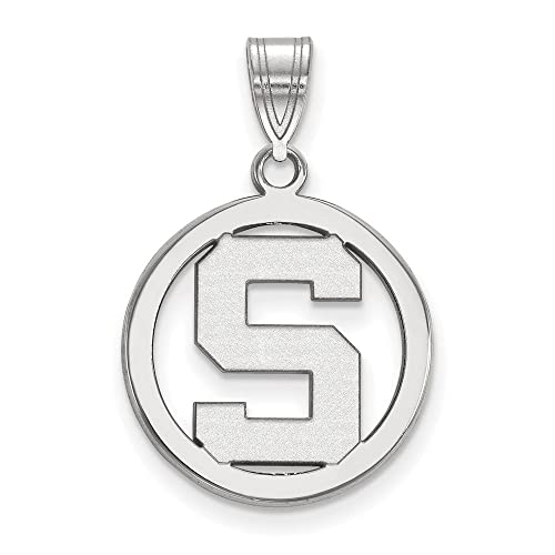 925 Sterling Silver Officially Licensed University College of Houston Small Pendant with Necklace 18 in x 1.25 mm