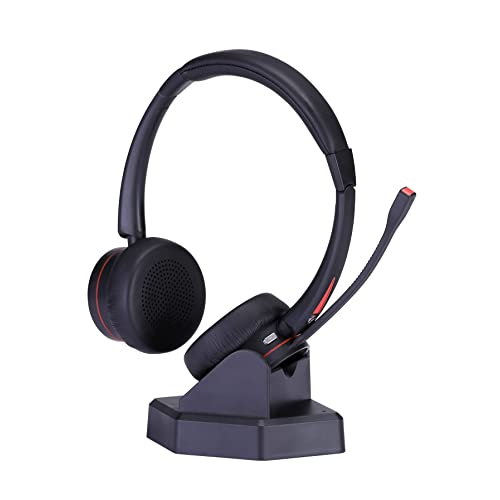 Mairdi Wireless Headset With Noise Cancelling Microphone For Call Centers Offices Telephone Bluetooth Headset For Pc Skype Conference Softphone Car Trucker Driver Over The Head With Charging Dock Buy Products Online