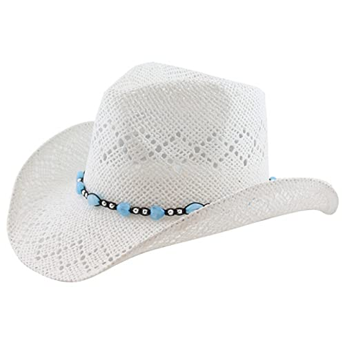 Beads Port Classic Straw Country Cowboy Hat