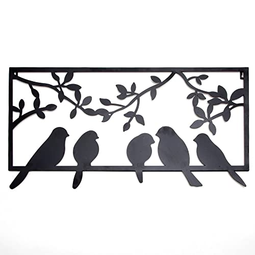 Buy Bits And Pieces Bird Silhouette Wall Art Metal Perched Birds Home Décor Accent Online In Lebanon B074p58zxd
