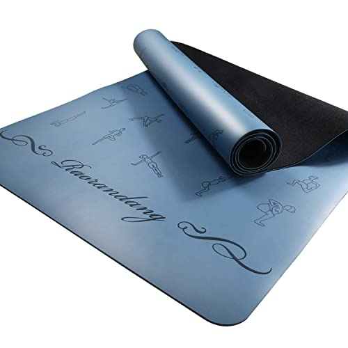 Raorandang Non Slip Yoga Mat With Instructions Poses Eco Friendly Rubber For Hot Yoga And Bikram Free Carry Bag 72 X26 Buy Products Online With Ubuy Lebanon In Affordable Prices B07p83wtfp