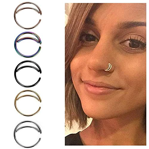 5pcs Stainless Steel Moon Nose Ring Hoop Indian Nose Ring Septum Ring Nose Jewelry Nose Piercing Small Nose Hoop Buy Products Online With Ubuy Lebanon In Affordable Prices B07q44p4mz