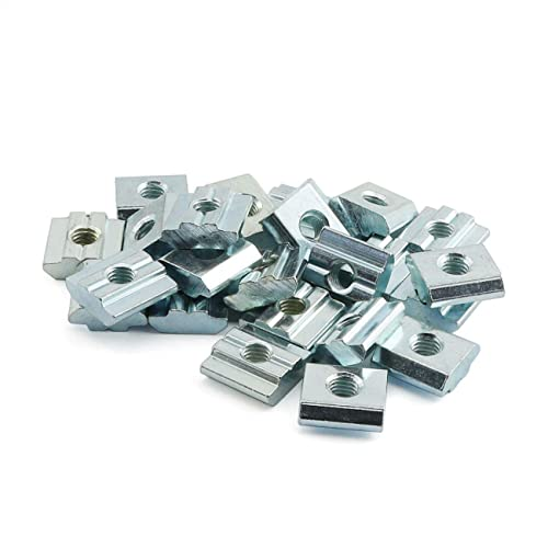 TUOREN 2020 Series Roll-in Spring M5 T Nut with Ball for Aluminum Extrusion 20Pcs