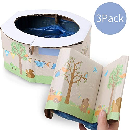 Dogs Waste Bags Camping or Portable Toilet Garbage Bag for Travel CUTICATE Portable Dispenser with 10 Rolls Baby Diaper Disposal Bag
