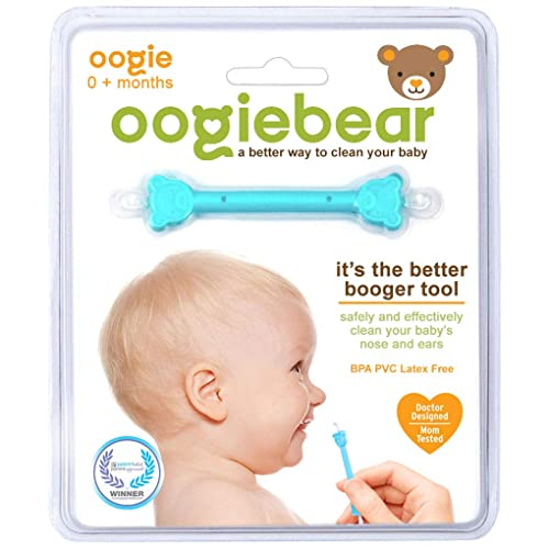 1oz chestrub Ointment for Easing Airways and Nasal Congestion; USDA Certified and oogiebear The Safe Baby Oogie Bundle Snot and Ear Cleaner Tool Newborn Nasal Booger