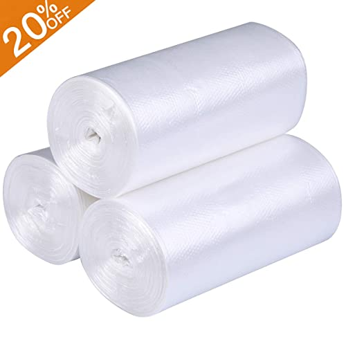 7.5 liters Small Garbage Bags for Office Y 100 Counts XYBAGS 2 Gallon Clear Small Trash Bags Bathroom