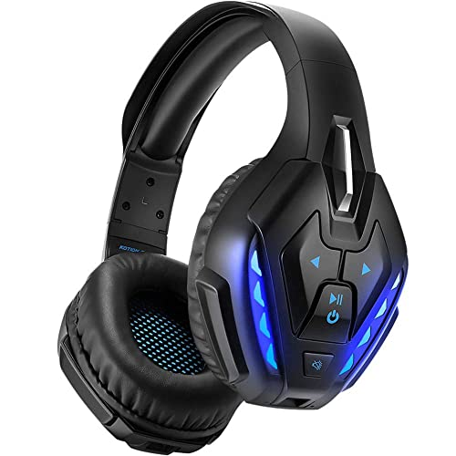 Wireless Gaming Headset For Ps4 Xbox One Pc Nintendo Switch Phoinikas Rockface Bluetooth Over Ear Headphone With 7 1 Stereo Bass Surround Detachable Noise Canceling Microphone 40 Hours Playtime Buy Products Online