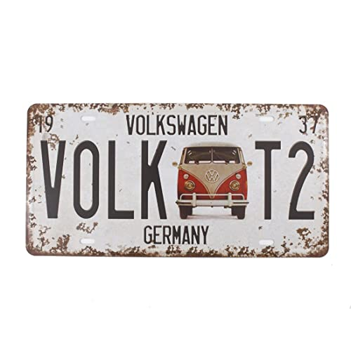 Buy 6x12 Inches Vintage Feel Rustic Home Bathroom And Bar Wall Decor Car Vehicle License Plate Souvenir Metal Tin Sign Plaque Germany Volkswagen Online In Lebanon B07bw4ffss