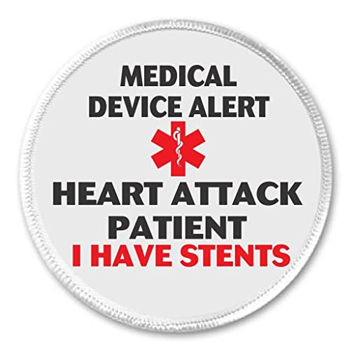 Medical Device Alert Heart Attack Patient I Have Stents 3 Sew On Patch