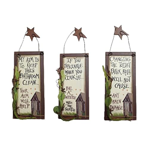 Outhouse Etiquette Bathroom Wood Signs Vintage Rustic Home Bathroom Laundry Decor Size Small Set Of 3 6 X 2 75 Inch Buy Products Online With Ubuy Lebanon In Affordable Prices B079g1pmkr