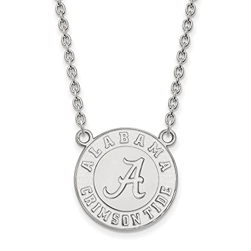 925 Sterling Silver Officially Licensed Michigan State University College Medium Disc Pendant 24 mm x 15 mm